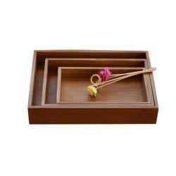 Accueil les ustensiles de cuisine en bois bon marché personnalisé Plaque de stockage