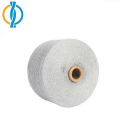 Nm18/1 Ne10.6s/1 Reciclar Azul marino mezclado de algodón tejido de hilo para tejer