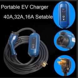 40A mayor potencia J1772 Cargador del conector del cargador de EV 14-50 NEMA
