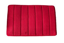 El PMS 206c el coral rojo Fleece alfombrilla de espuma de memoria Anti-Skid Alfombra de Baño