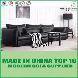 Meubles classiques modernes nordiques de jardin de sofa de cuir de sofa