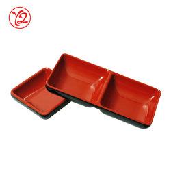 Bicolor tradicionais de louça de melamina Prato Molho para dipping
