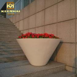 Aço inoxidável exterior Pot Flower Garden Plantadeira