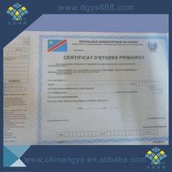 Filigrana papel A4 Anti-Counterfeiting Certificado de seguridad en alta calidad
