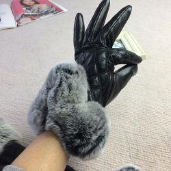 Erstklassige Frauen-Großhandelsform-lederne Handschuhe