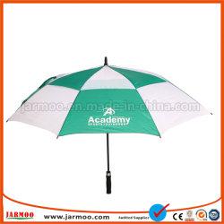 カスタムプリントロゴの広告する強い防風のゴルフ傘ギフトの傘を広告する