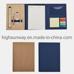 regalo de promoción ecológica portátil con un conjunto de artículos de papelería