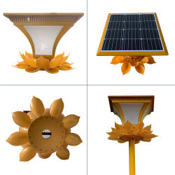 Novo design de cores de forma personalizada 50W levaram todos em uma luz solar para iluminação de estrada