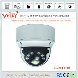 Videocamera van de Koepel van kabeltelevisie IRL van de Camera van Dahua 3.0MP de Digitale IP