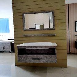 Color Design de mármore montado na parede de banho vaidade conjuntos para mobiliário de hotel