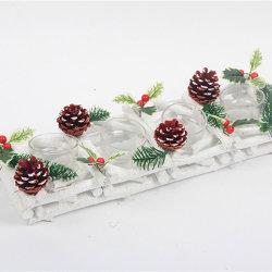 Décorations de Noël de l'artisanat en bois bois boîte cadeau en bois