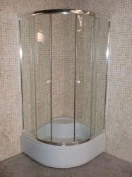 Cel van de Douche van het Glas van het Frame van de badkamers de Duidelijke met Schuifdeur 90