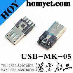 Qualität5 Pin Mikro-USB-Verbinder mit schwarzer Farbe für Samsung-Mobile-Kabel