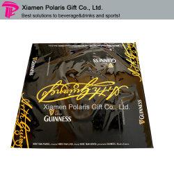 Guinness manteles de vinilo negro de plástico con impresión del logotipo de la etiqueta