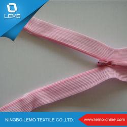 第3衣服のための見えないジッパー多テープピンクカラー正常なスライダ