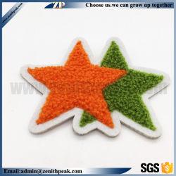 열 - 물개 Backing Damask Label Woven Star Shape Embroidery Patch