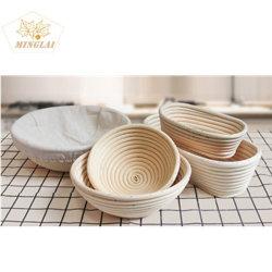 Cestino di Banneton della ciotola di impermeabilizzazione del pane del cestino del rattan tessuto disegni Handmade di cottura di 100% vari