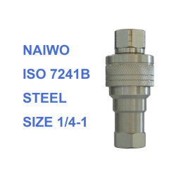 Naiwo ISO 7241-B los acopladores de acoplamientos rápidos tubo conector de la manguera (acero)