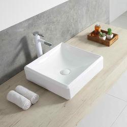 Commerce de gros de la taille du bassin de lavage Lavage de main d'art blanc céramique lavabo