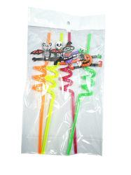 Loco reutilizables de promoción de la paja en forma de PVC sanitaria pajitas de Magic