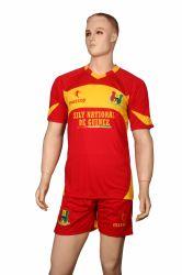 Zoll schnitt und näht Verein-bunte Fußball-Jersey-Uniform