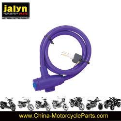 Acessórios de bicicleta 12*1000mm antirroubo de alta qualidade aluguer de bloqueio da cadeia de cabo de segurança dobrável