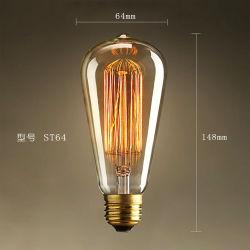 El ahorro de energía de estilo retro Vintage Edison llevó las bombillas de filamento