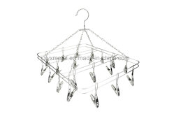 Pinos de aço inoxidável Rack Dobrável cabide para secar roupas íntimas meias Rack do secador