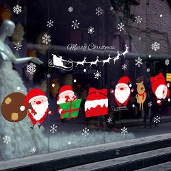 Paroi en PVC amovible sticker autocollant de la fenêtre du Père Noël Décoration de magasin