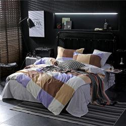 1700 Hilos Imprimir Juego de dormitorio de microfibra tapa de la ropa de cama