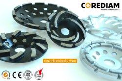 115mmの二重列のダイヤモンドの粉砕車輪またはダイヤモンドのコップの車輪または粉砕車輪かダイヤモンドのツール
