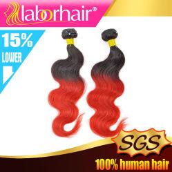 Trama brasileña del pelo humano del color rojo de Ombre de los tonos de la Virgen dos de la manera