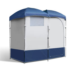 Outdoor Portable Camping Pop Up Double Privacy Beach Toilet Douche Changing Room Tent