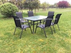 Im Freien Garten-/Patio-Möbel-Speisetisch und 6 Stuhl-zeitgenössisches speisendes Set