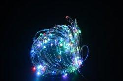 Chaîne de fil de cuivre de lumière LED 10m RGB par connexion USB
