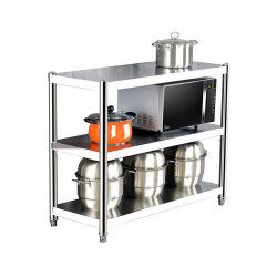 Fabricante mayorista de la fábrica de acero inoxidable cocina multifuncional Organizador de la gradilla de almacenamiento de los estantes de cocina