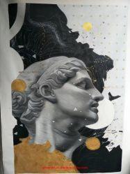 キャンバスのハンドメイドの新式の古典的な図油絵