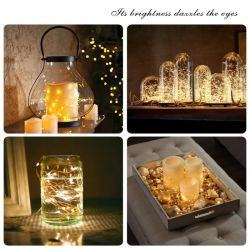 구리 철사 크리스마스 홈 테이블 훈장 장신구 LED 끈 빛