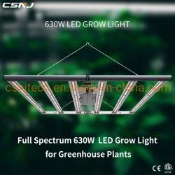 تصميم جديد معتمد من ETL طيف كامل 630 واط أفضل LED داخلي زراعة النباتات تنير المصابيح لتحل محل مصابيح الطلاقة