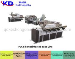 En PVC flexible renforcé de fibre / Jardin tuyau en PVC souple Making Machine tuyau tressé Ligne d'Extrusion