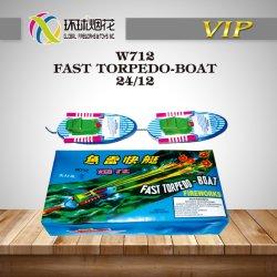 W712-Torpedo-Boat rapide de la Chine Jouet de plein air des consommateurs durant la journée des Nations Unies 1.4G0336 Fireworks