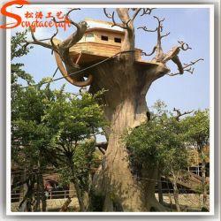Casa na Árvore artificial feito de fibra de vidro para decoração de jardim