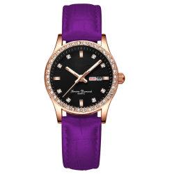Moda jóias com diamantes Assista a Senhora Dom Quartz relógio de pulso de volta em aço inoxidável