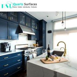 台所カウンタートップ、Benchtopsのための白い設計された水晶石