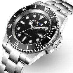 Factory Hot Sale Luxury Logo personnalisé 3ATM mécanique automatique en acier inoxydable étanche l'homme Watch pour regarder Relogio