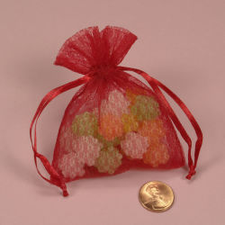 Saco de jóias Mini-Lace com cordão ajustável de fita (AM-LB001)