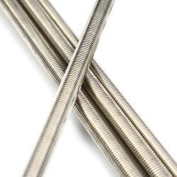 أوكازيون المصنع المباشر SS304 SS316L A2-70 A4-80 B8 B8m من دون للصدأ قضيب مسننة من الفولاذ