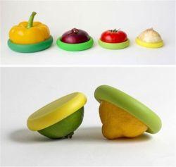 Novos alimentos quentes Silicone Huggers Frutas Frescas de tampa de Armazenamento de Dados de Finalização