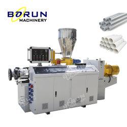 Пластиковый ПВХ HDPE PPR дренажных сточных вод электрический канала шланга трубки конический двухшнековый экструдер экструзионного производства бумагоделательной машины