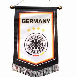 小型カスタムロゴデザインサッカーの長旗、フットボールクラブ交換フラグ